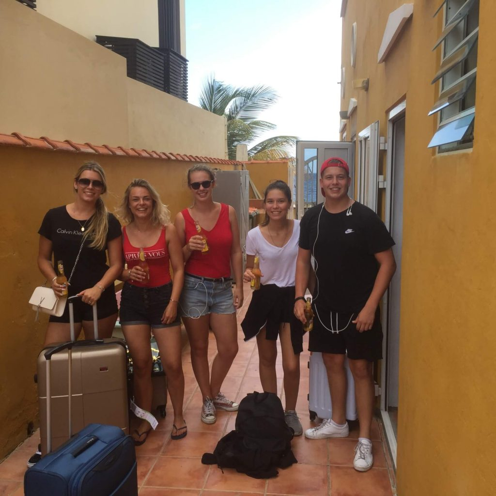 Students on Curacao